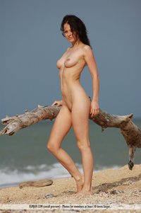 June Hot Naked Girl By The Sea