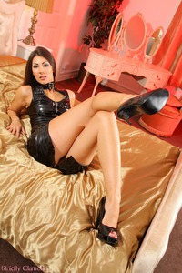 Sabrina C Exotic Femdom Slut Is Amzing In Hot Latex Dress