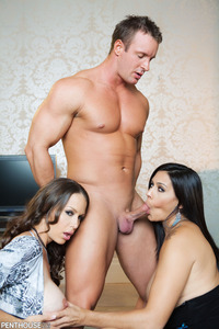 Raylene in  a threesome party