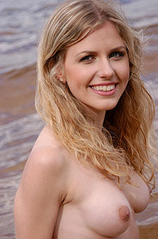 Cheerful girl at the sea