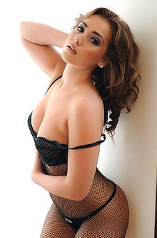Geena Mullins Posing In Black Pantyhose