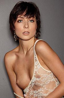 Slender Brunette Zoe Voss Small Tits