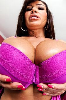 Lisa Ann Purple Bra
