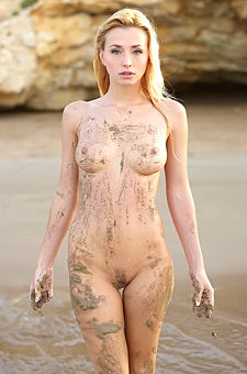 Busty Blonde Gets Dirty By The Sea