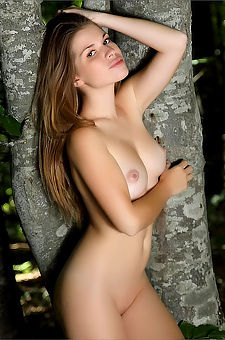 Naked Girl In The Deep Forest
