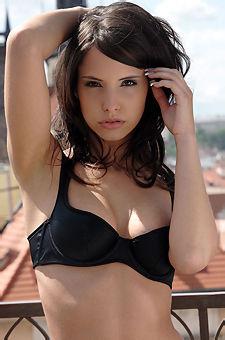 Monika Vesela Strips Off Her Black Bra