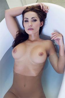 Busty Babe Naked In Bathtub