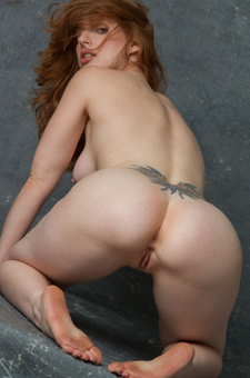 Naked Redhead Amber Has Hot Ass