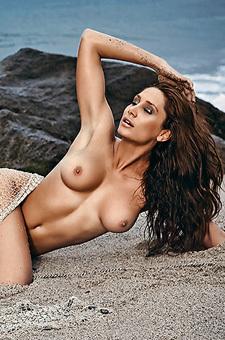 Hungarian Babe Eva Horvath On The Beach