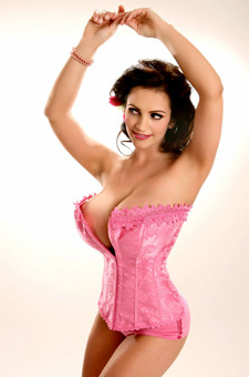 Busty Babe Denise Milani In Corset