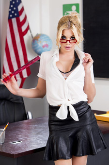 Riley Steele Hottest Teacher Strips