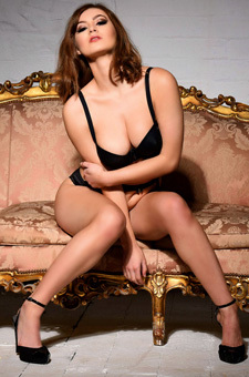 Summer St Claire In Black Lingerie