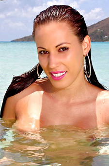 Layla Rivera Adorable Babe Posing Nude On Beach