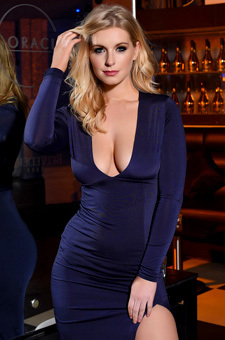 Jess Davies Tight Blue Dress