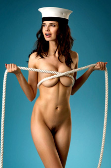 Nude Model With A Rope