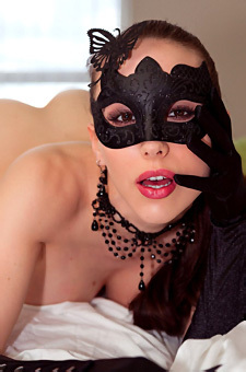 Katie Banks In A Mask