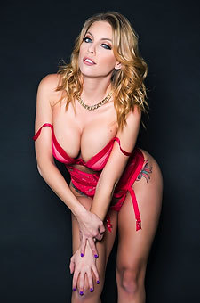 Britney Amber Stunning In Red