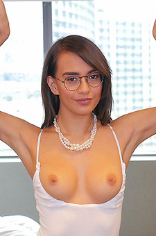 Skinny Latina Girl Janice Griffith Strips Off Her Sexy Bodysuit