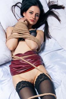 Eva Kahil In Rope