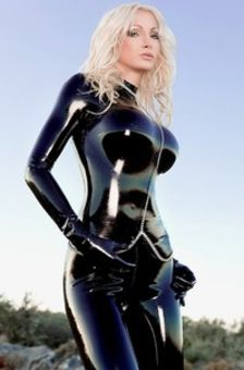 Susan Wayland In Black Latex