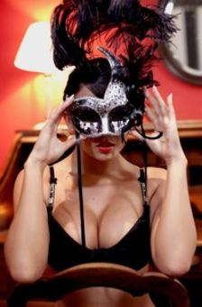 Glamour Teen In Mask